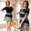 Lady Anne Minimal Chic Graphic Mini Dress L133-69C02 thumbnail 1