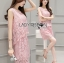Lady Lily Sweet Casual Baby Pink Lace Set L261-7919 thumbnail 2