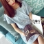 Lady Jill Geometry Flared-Sleeved Brocade Denim Dress L193-69C05 thumbnail 12