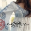 DR-LR-265 Lady Eliza Pretty Embroidered Brocade Kaftan Mini Dress thumbnail 10