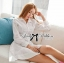 DR-LR-106 Lady Yuri All White Glam Chic Shirt Dress thumbnail 6