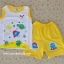 ไซส์ L 12-18 เดือน เสื้อกล้ามแขนกุด กางเกงมีหาง - สีเหลือง