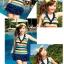 SM-V1-088 ชุดว่ายน้ำแฟชั่น คนอ้วน เด็ก ดารา thumbnail 3