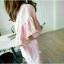 เดรสผ้าป่านคอตตอนลินินแต่งขอบปลายผู้สีชมพูแมตช์กันกับตัวเสื้อ thumbnail 2