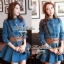 DR-LR-025 Lady Ribbon's Made Lady Mara Chic Denim Dress thumbnail 1