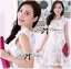 DR-LR-127 Lady Rachel Sweet Angel Flowery Dress in White thumbnail 7
