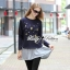 DR-LR-236 Lady Jewellery Embellished Sweater and Jersey Dress Set thumbnail 4