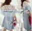 DR-LR-094 Lady Natalie Casual Slouchy Lace and Denim Dress thumbnail 5