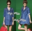 DR-LR-158 Lady Rosalie Smart Chic Embroidered Denim Shirt Dress thumbnail 8
