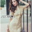Kate Royal Sweet Gold Floral Embroidered Button-Down Tulle Dress L272-85031 thumbnail 9