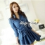 DR-LR-154 Lady Sarah Smart Casual Feminine Denim Shirt Dress thumbnail 5