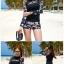 SM-V1-667 ชุดว่ายน้ำแขนยาว โทนสีดำ ลายสวย Love_XOXO thumbnail 5