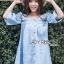 Lady Victoria Casual Chic Off-Shoulder Soft Denim Dress L264-6922 thumbnail 5
