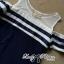 DR-LR-138 Lady Isla Glam Chic Navy Blue Striped Dress thumbnail 8