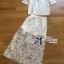 Lady Rachel White Chiffon Top and Embroidered Organza Lace Set L158-79B05 thumbnail 8