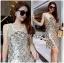 Lady Natalie Glittery Sequin Cocktail Mini Dress L220-69C02 thumbnail 1
