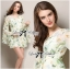 Lady Annie Floral Printed Flared Sleeve Chiffon Mini Dress thumbnail 8