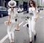 Lady Emma Sporty Casual Striped Printed with Lace Set L205-89C03 thumbnail 2