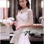 Lady Hana Classic Glam Insert Lace Ruffle Dress in White thumbnail 7