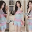 Lady Rachel Rainbow Pastel Striped Lace Set L263-7908 thumbnail 6