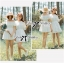 Lady Chloe Feminine Off-Shoulder Cotton and Lace Dress L188-75C08 thumbnail 10