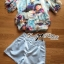 Lady Katie Dreamy Colourful Printed Layered Chiffon Top and Satin Shorts Set L166-79C11 thumbnail 9