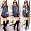 Jeans jacket female spring Korean lace long-sleeved shirt by Aris Code thumbnail 3