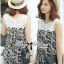 DS-PP-035 Lady Margaret Casual Chic Graphic Print Lace Jumpsuit thumbnail 10