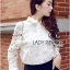 Lady Blaire Floral Embroidered Lace Shirt in White L274-7509 thumbnail 3