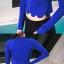 SM-V1-648 ชุดว่ายน้ำแขนยาว+ขายาว เสื้อคลุมสีน้ำเงิน เซ็ต 4 ชิ้น (บรา+บิกินี่+ขายาว+แขนยาวซิป) thumbnail 16