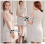 DR-LR-214 Lady Kelly Haute Glam Flowery Dress in White thumbnail 2