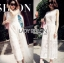Lady Katy Smart Casual White Guipure Lace Jumpsuit L272-8917 thumbnail 11