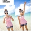 SM-V1-229 ชุดว่ายน้ำแฟชั่น คนอ้วน เด็ก ดารา thumbnail 4