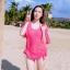 SM-V1-220 ชุดว่ายน้ำแฟชั่น คนอ้วน เด็ก ดารา thumbnail 3