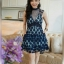 Mini Dressแขนกุดเนื้อผ้าซีทรูสีดำปักลายดอกไม้ thumbnail 1