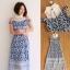 Dress ชุดกระโปรงอัดแน่นด้วยลูกไม้ทั้งชุด คอปกสีขาว thumbnail 7