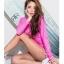 SM-V1-649 ชุดว่ายน้ำแขนยาว สีชมพูสวย กางเกงขาสั้นสีสันสดใส thumbnail 6