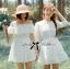 Lady Chloe Feminine Off-Shoulder Cotton and Lace Dress L188-75C08 thumbnail 6