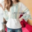 Lady Cori Pastel Embroidered Ruffle-Sleeve Cotton Top L260-7505 thumbnail 7