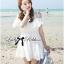 DR-LR-069 Lady Lara Sweet Casual Cotton Lace Mini Dress thumbnail 4