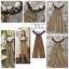 Dress คอปาด ระบายหน้าพร้อมผ้าพิมพ์ลาย ตัวเดรสผ้าลายริ้ว thumbnail 3
