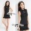 DR-LR-081 Victoria Secret Autumn Black&White Secret Mini Dress thumbnail 2