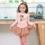 เสื้อสีชมพู แขนตุ๊กตา ลายแมว ไซด์ 90-100-110-120 thumbnail 2