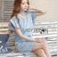 Lady Jill Geometry Flared-Sleeved Brocade Denim Dress L193-69C05 thumbnail 7