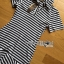 Lady Minimal Chic Striped Collared Peplum Dress L271-7503 thumbnail 18