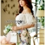 Lady Cathy Off-Shoulder Chiffon with Butterfly Printed Playsuit L260-7518 thumbnail 6