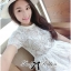 Lady Grace Pretty Floral Embroidered Sheer Tulle Dress in White thumbnail 12