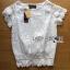 Lady Rachel Classic Vintage White Lace Blouse L274-6914 thumbnail 7