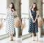 Polka dot Dress with belt thumbnail 2