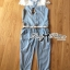 Lady Mariesa Insert Embroidered Tulle Embellished Button-Down Denim Jumpsuit thumbnail 10